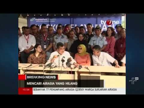 Autoridades Da Indonésia Afirmam Que Avião Da Companhia Air-Asia Pode Ter Caído No Mar - 29/