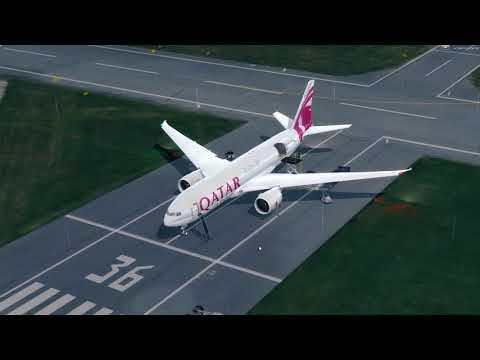 [PREPAR3Dv3] Flight Boeing 777F QATAR AIR CARGO - EPML (Mielec) - EKCH (Copenhagen)