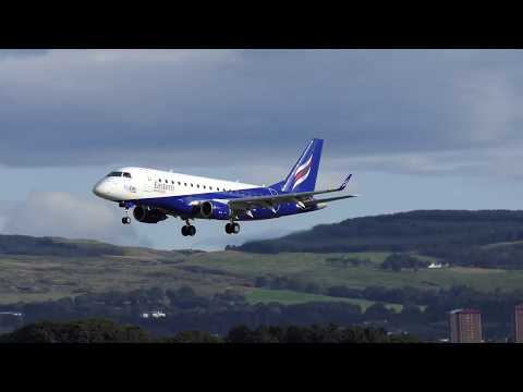 Eastern Airways Embraer 170 - Glasgow Airport - 9-SEP-17