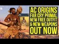 Assassin's Creed Origins Far Cry Primal Outfit & Weapons OUT NOW (AC Origins Far Cry Primal Pack)