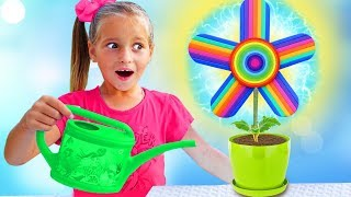 My super fun day with Magic Spin WHEEL Sofia pretend play with Baby Dolls and Toys