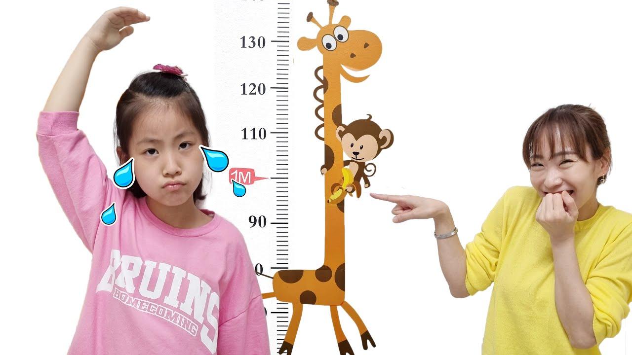 키가 클려면 어떻게 해야할까요? 서은이의 기린 키재기 식판 식단 키즈 운동 기구 잘자기 How to grow taller