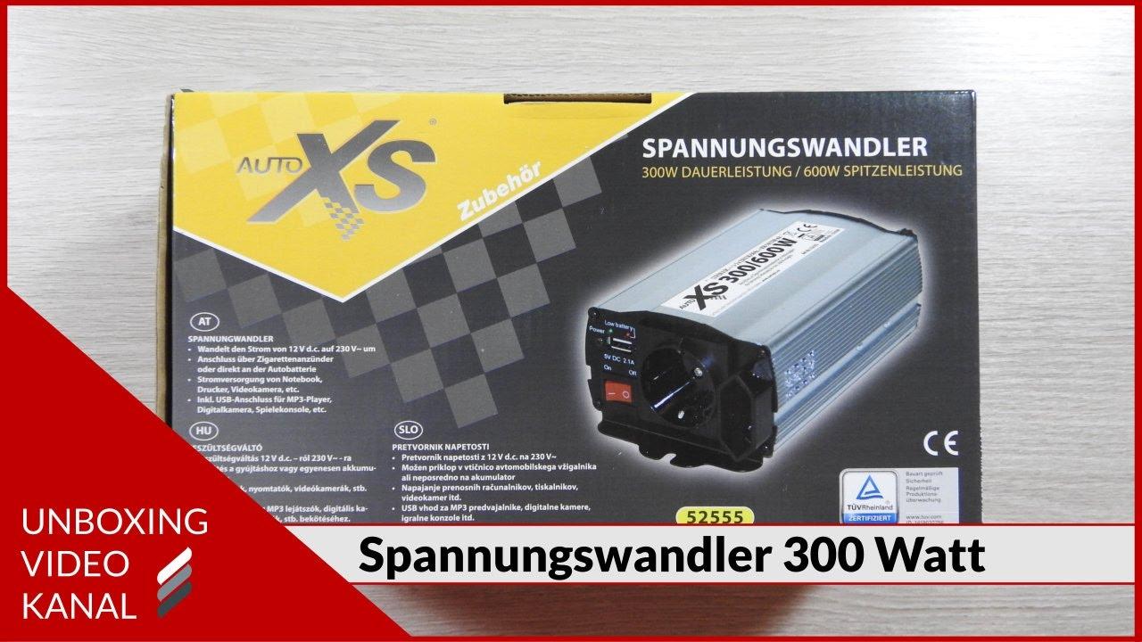 Spannungswandler Auto Kühlschrank : Spannungswandler watt für auto unboxing video youtube