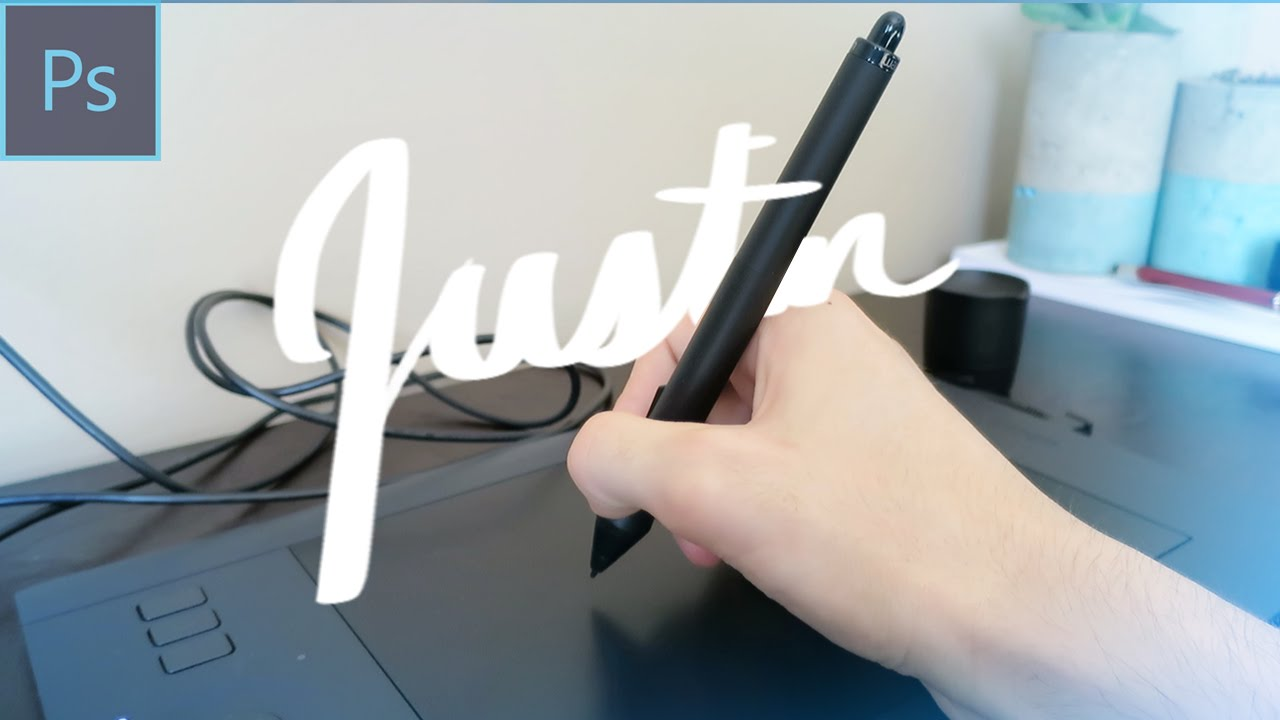 How to hand letter in Photoshop using a Wacom Tablet Tutorial