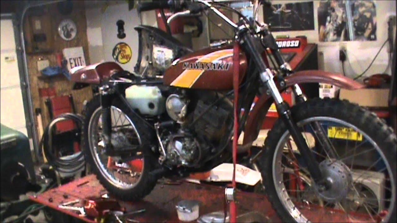 hight resolution of 1976 kawasaki ke100 back up and running