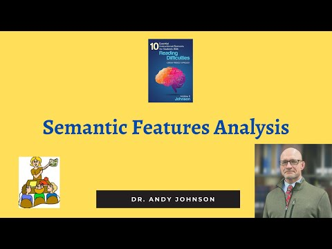 VOCABULARY: SEMANTIC FEATURES ANALYSIS