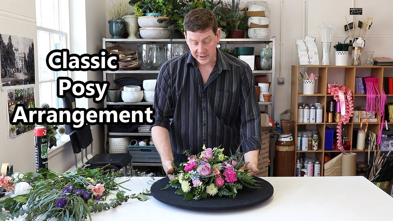 How To Make A Posy Flower Arrangement In Floral Foam Youtube
