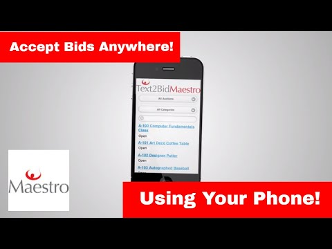 Mobile Bidding - MaestroSoft