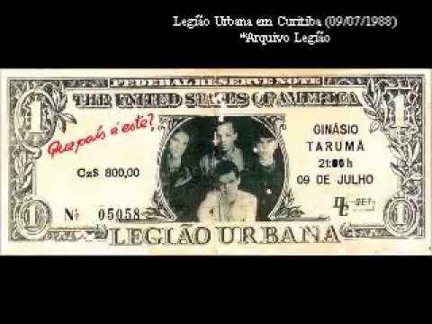 Legião Urbana - Curitiba (Ginásio Tarumã) 09/07/1988