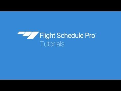 Getting Around the Schedule on Flight Schedule Pro v4