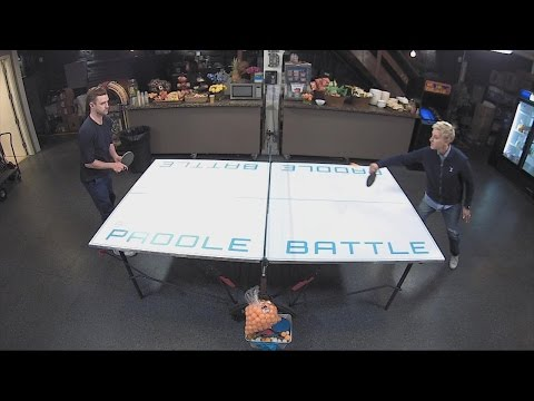 Ellen and Justin Timberlake's Backstage Ping Pong Battle