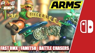 nintendo switch arms character profiles fast rmx update dated battle chasers more   pe newz