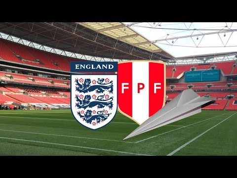 The Greatest Paper Airplane Flight in Recorded Human History (England vs Peru)