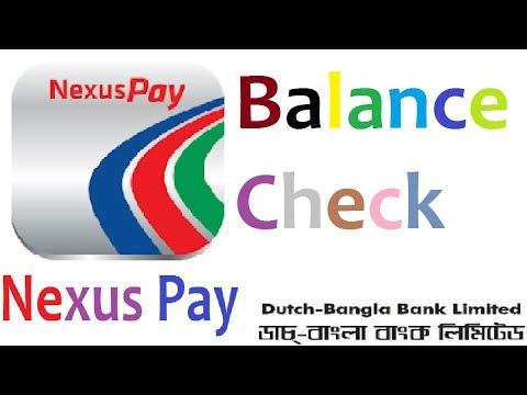NexusPay - Dutch-Bangla Bank( DBBL) A to Z Top up  Balance check