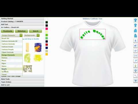 Custom T Shirt Design Software And Application Tool By