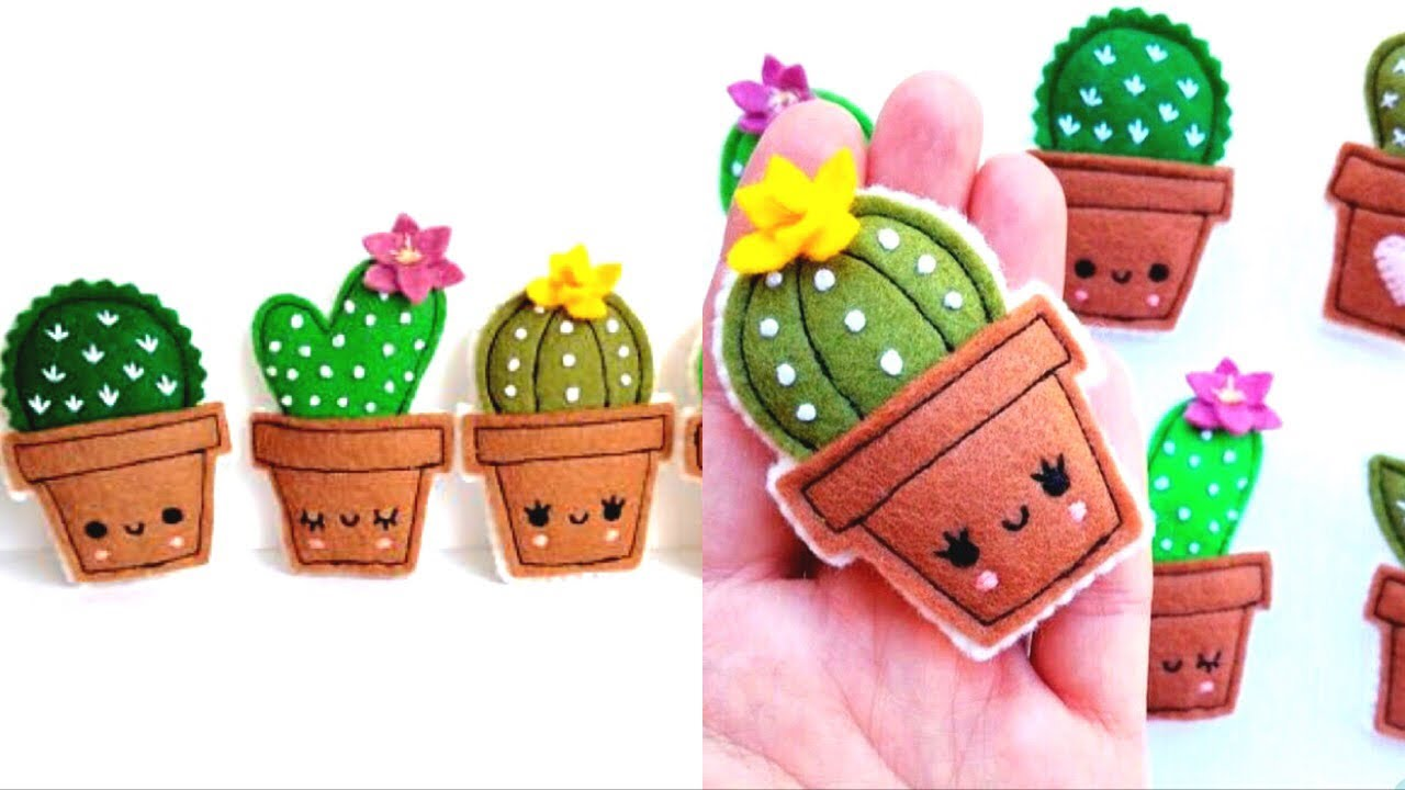 How To Make A Catus 🌵 | Felt Paper Craft | 🌵 DIY Cactus ...