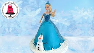 Frozen Princess Elsa Cake With 3D Olaf - How To With The Icing Artist