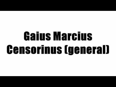 Gaius Marcius Censorinus (general)