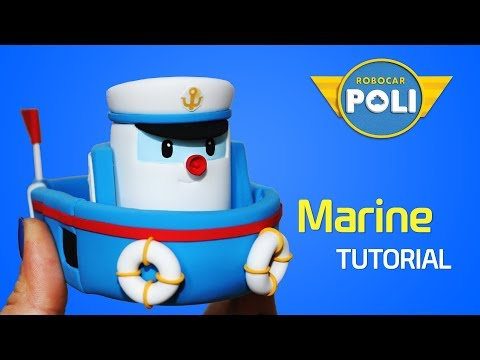 Transformed into clay♥ Marine became so soft! | Friends of Robocar POLI | Gony's Claytown