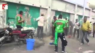 بالفيديو والصور- جماهير بورسعيد تنظف ستاد النادي المصري