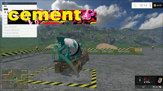 Farming simulator 2015 Hauling cement and more!!
