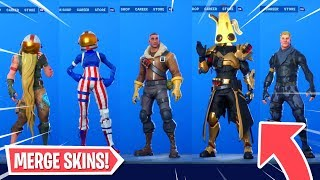 *NEW* Merge Skins GLITCH! (Fortnite Battle Royale Season X Glitches)