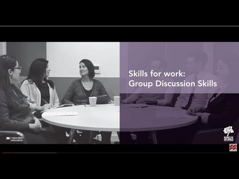Skills for Work: Group Discussion Skills