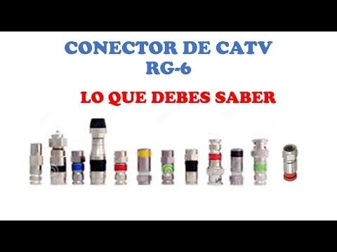 CONECTOR RG6 QUE ES,CLASES Y TIPOS-CURSO DE TELEVISION POR CABLE