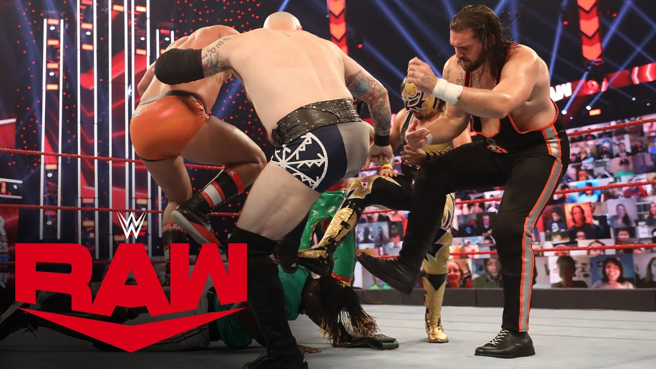 """R-Truth escapes wild 7-Way 24/7 Title Match with his """"baby"""": Raw, Nov. 9, 2020"""