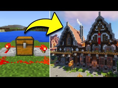 How To Put HOUSES In CHESTS In Minecraft! (NO MODS!)