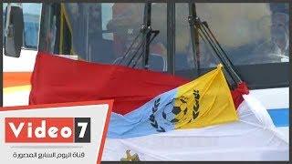 الدراويش فى طريقهم إلى استاد برج العرب لمساندة المنتخب