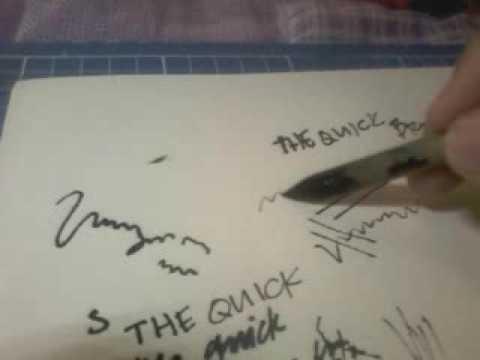 How to make a bamboo dip pen or calligraphy pen
