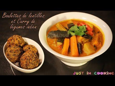 recette-de-boulettes-de-lentilles-épicées-et-curry-de-légumes-indien