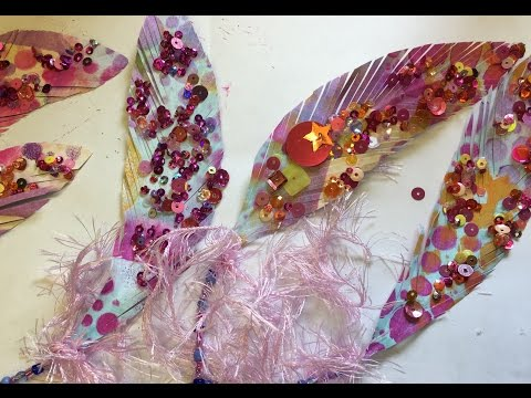 Paper feathers