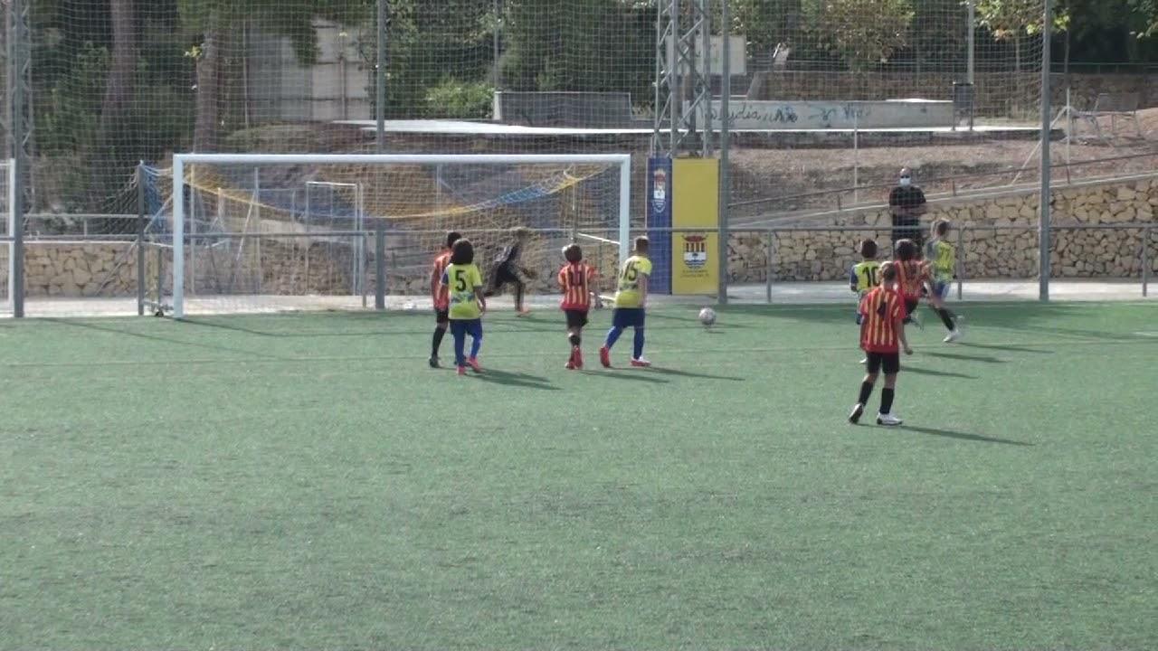 Vídeo Resumen del partido entre el Benjamín A del CF Alfaz del Pi y el Altea