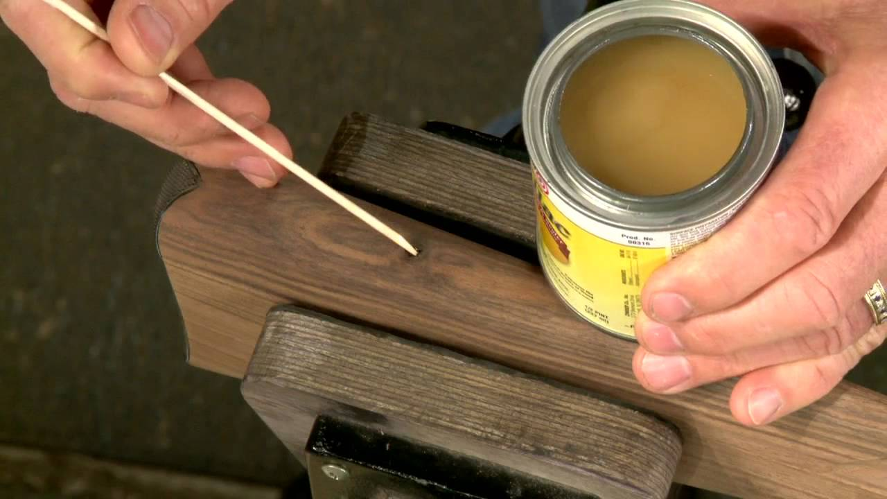 Gunsmithing How To Repair Gunstock Imperfections Knots