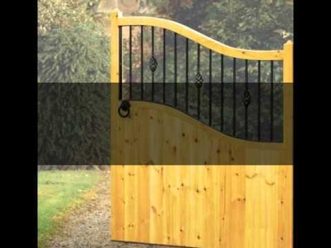A Range of Wooden & Metal Gates by Garden Gate Sale - YouTube
