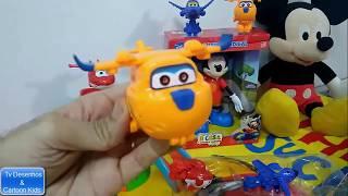 Super Wings Abrindo Brinquedos Surpresas - Super Wings Português Brinquedos 2018 - Aviões Crianças