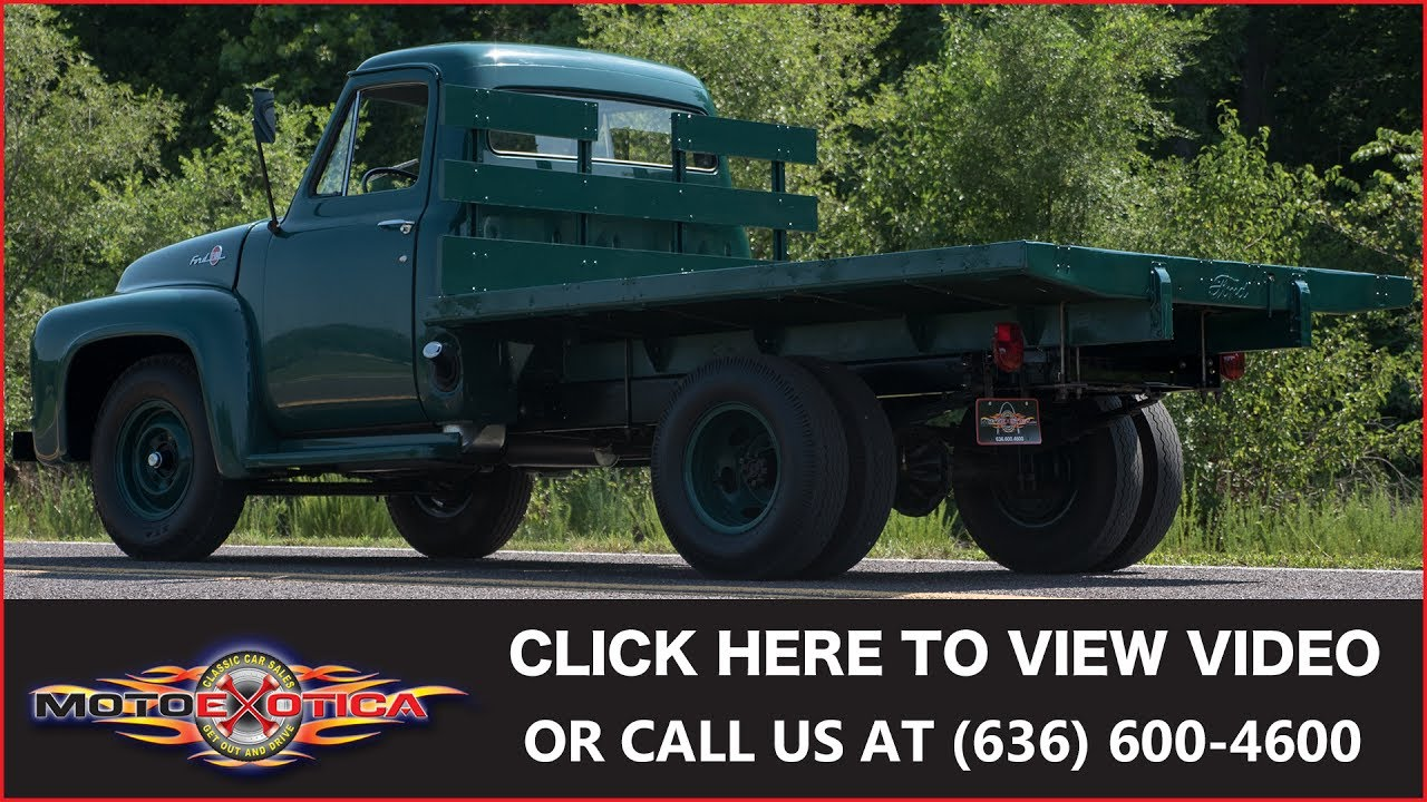 1955 Ford F 350 Sold Youtube F100 Side Mirrors