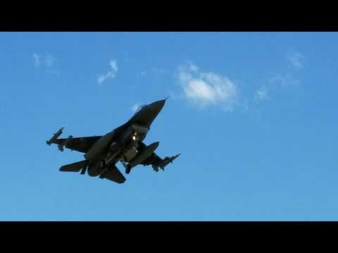 F-16's Landing At Sioux Falls Regional Airport
