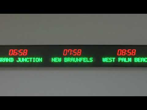 BRG Precision Product's 7710E-R18G - 5 Zone, Programmable Time Zone Clock Display