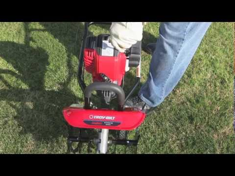 The TB146 EC gas cultivator | How to set up your 4-cycle cultivator - YouTube