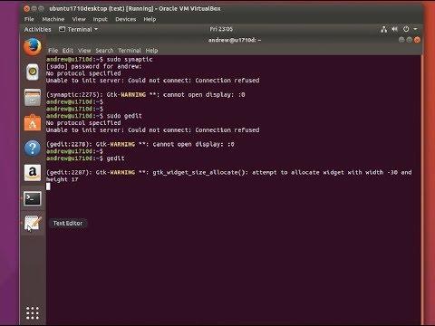 Ubuntu 18 04 - GUI not working - No protocol specified | Technical