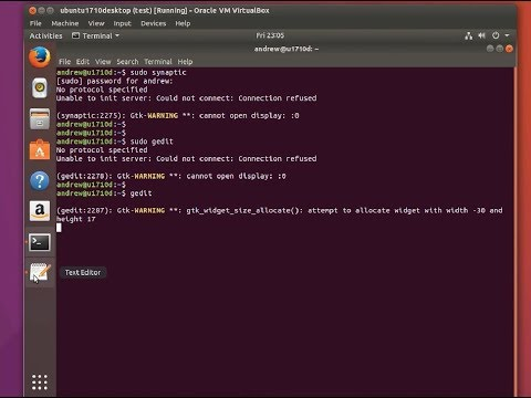"""How to solve """"No protocol specified"""" on Ubuntu 17.10"""