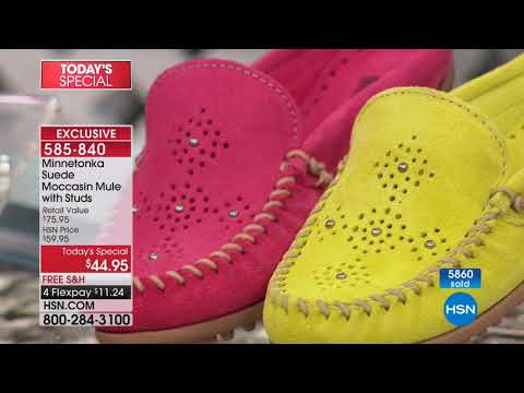 HSN | Minnetonka Footwear 03.09.2018 - 01 AM