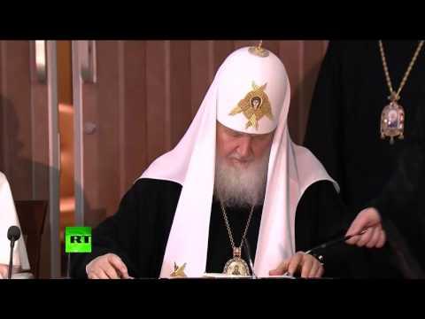 Храм Св. А. Невского. Литургия с патриархом »
