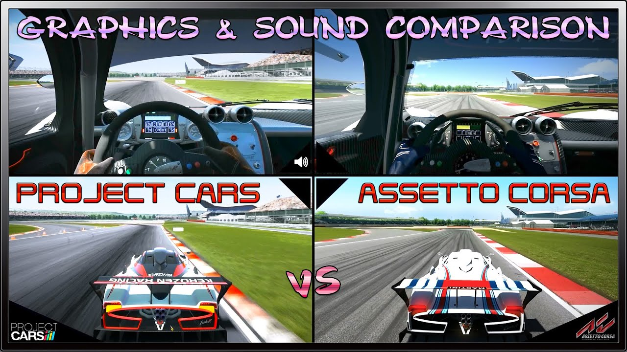 Project Cars Vs Assetto Corsa Graphics Sound Dual View