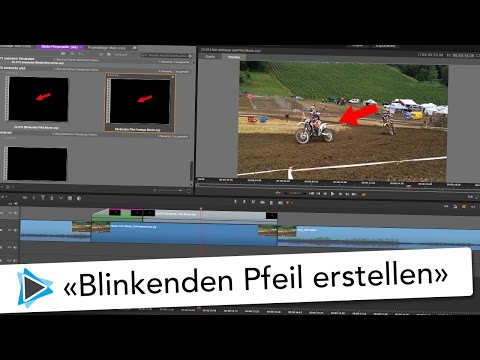 Pfeil blinken lassen Animation und Vorlage Pinnacle Studio 20 Deutsch Video Tutorial Deutsch