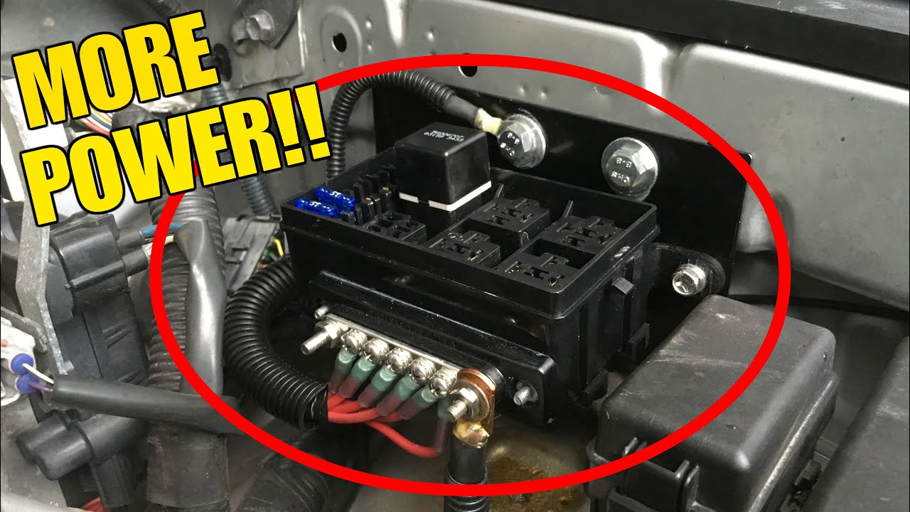 auxiliary fuse box install on the fj cruiser - youtube  youtube