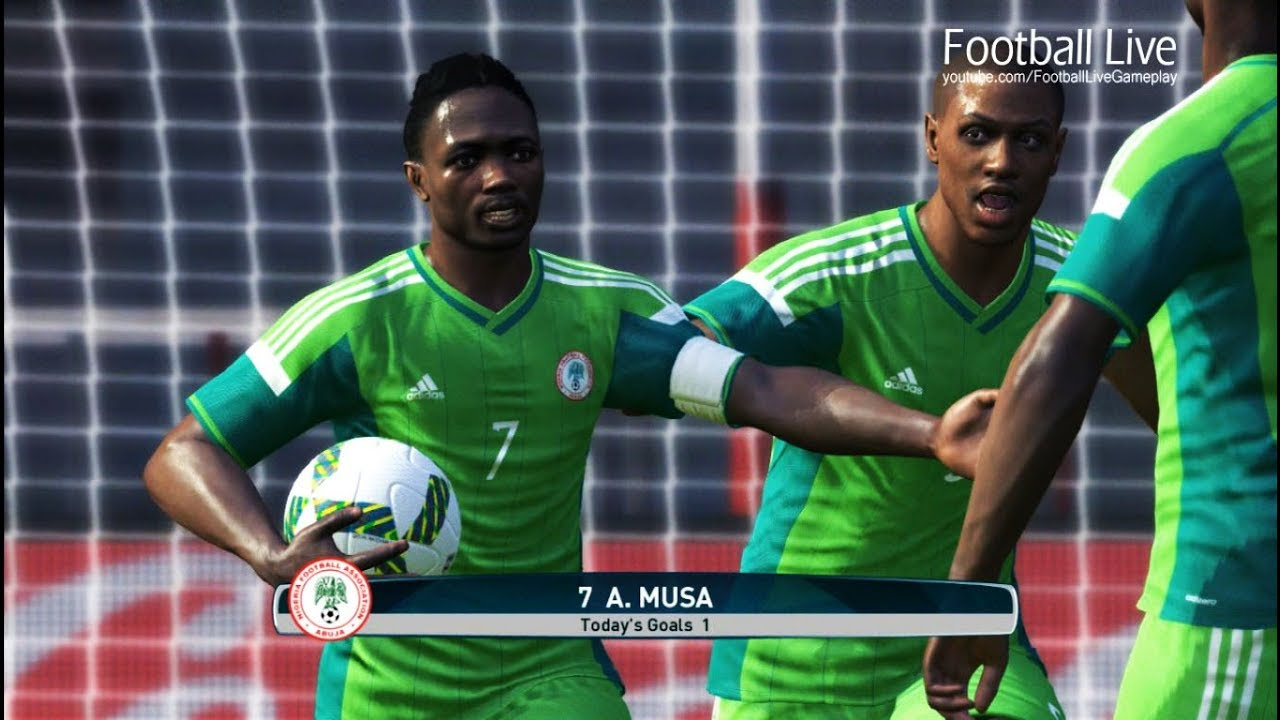 Pes  Nigeria Vs Cameroon A Musa Scored  Goal Full Match Gameplay Pc